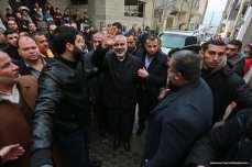El jefe adjunto de la oficina política de Hamás, Ismail Haniyeh regresa a Gaza [Mohammed Asad / Monitor de Oriente]