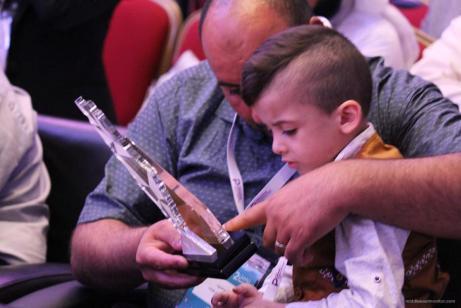 ESTAMBUL, TURQUÍA: Ahmed Dawabsheh - símbolo de supervivencia durante la conferencia #PalestineInMedia