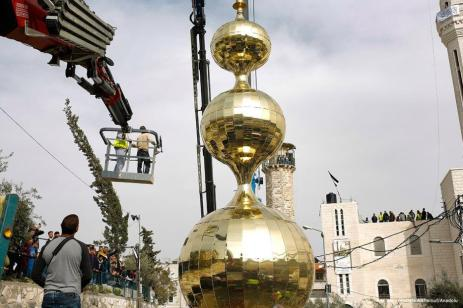 La construcción del minarete más alto de Jerusalén, el 17 de marzo de 2017 [Mostafa Alkharouf / Anadolu]