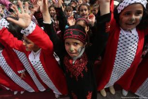 Imágenes de las celebraciones del Día de los Niños Palestinos [Mohammed Asad / Middle East Monitor]