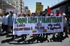 Teherán, IRAN- Los iraníes salen a las calles para celebrar el Día de Al Quds, un evento anual celebrado a nivel mundial que pide el apoyo al pueblo palestino contra el Estado de Israel
