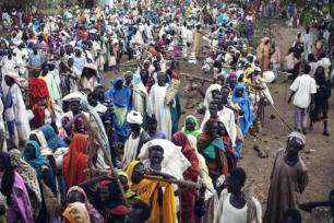 Refugiados en Sudán [foto de archivo]