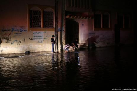 Las fuertes lluvias provocaron el bloqueo de las carreteras en Gaza, 27 de noviembre de 2017 [Mohammed Asad / Middle East Monitor]