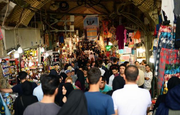 Personas en un bazar de Irán, 6 de agosto de 2018 [Fatemeh Bahrami / Agencia Anadolu]