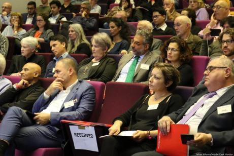MEMO organizó una conferencia para conmemorar el 25 aniversario de la firma de los Acuerdos de Oslo. En Londres, Reino Unido, el 29 de septiembre de 2018 [Jehan Alfarra / Middle East Monitor]