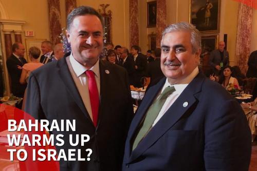 Los ministros de Relaciones Exteriores de Israel y Bahréin celebran…