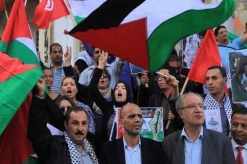 """Manifestación en Túnez contra el """"Acuerdo del Siglo"""""""