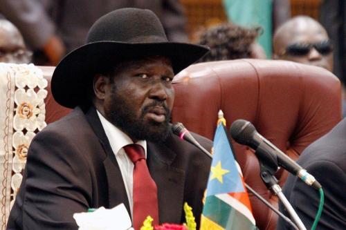 Kiir de Sudán del Sur y el jefe de la…