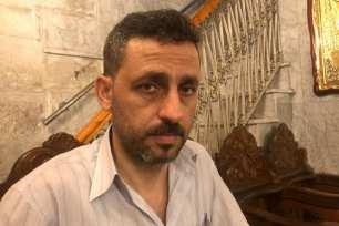 Kamel Ayyad en su visita a la iglesia