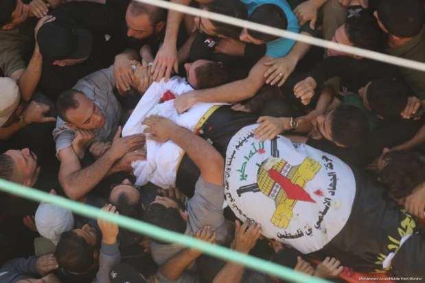 El principal líder de la Yihad Islámica, Bahaa Abul-Ata, y su esposa son asesinados tras un ataque israelí contra su casa en la Franja de Gaza el 12 de noviembre de 2019 [Mohammed Asad / Middle East Monitor]