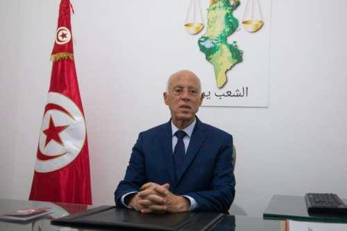 El presidente de Túnez, Kais, elegido en Túnez el 15 de septiembre de 2019 [Nacer Talel / Agencia Anadolu]