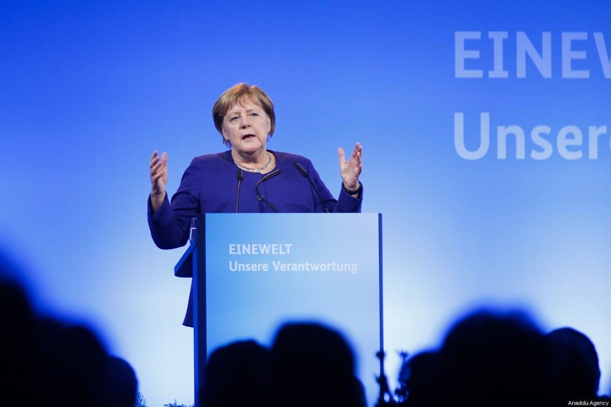 La canciller alemana Angela Merkel en Berlín, Alemania, el 14 de noviembre de 2019 [Abdülhamid Hoşbaş / Agencia Anadolu]