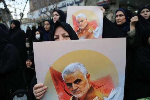 Palestinos en Gaza lloran a Soleimani de Irán