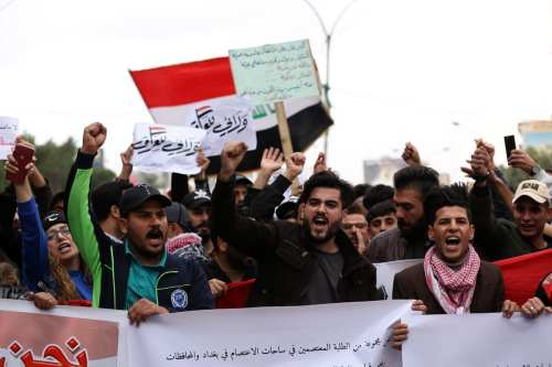 Más de 50 heridos en protestas en Iraq