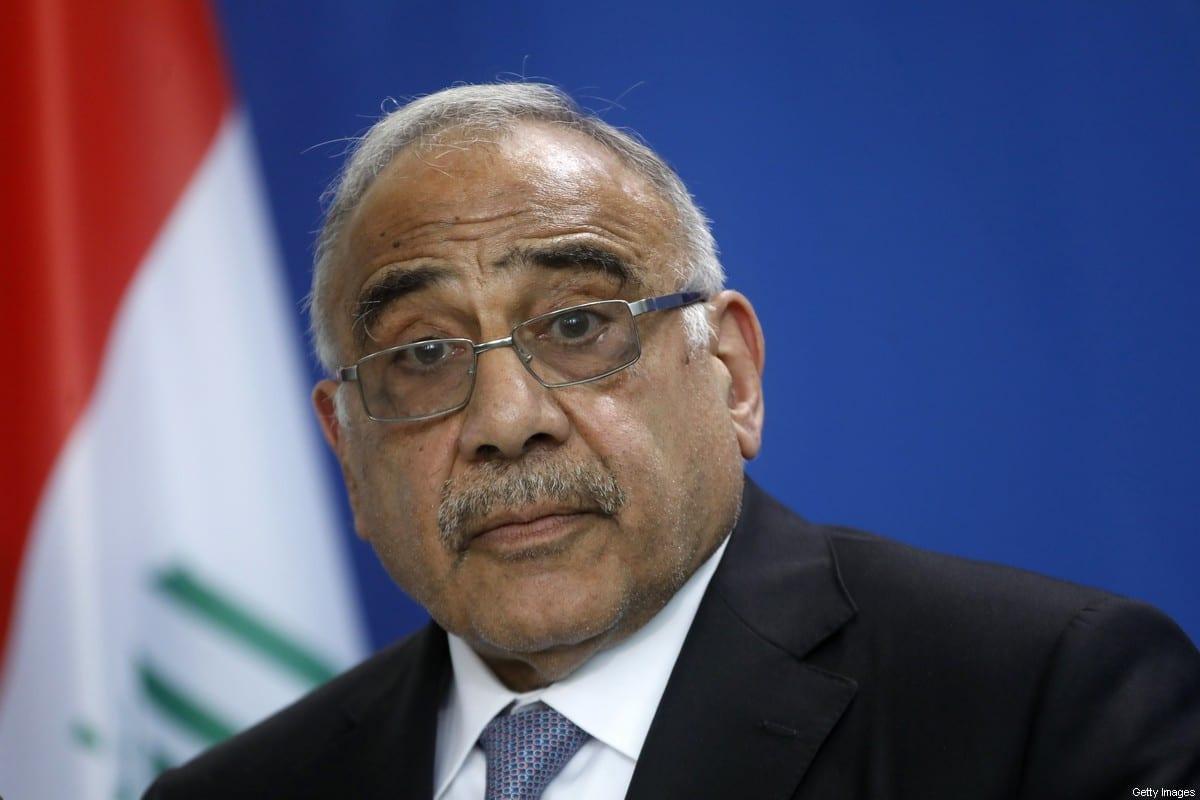 El primer ministro iraquí, Adil Abdul-Mahdi, en Berlín, Alemania, el 30 de abril de 2019 [Michele Tantussi / Getty Images]