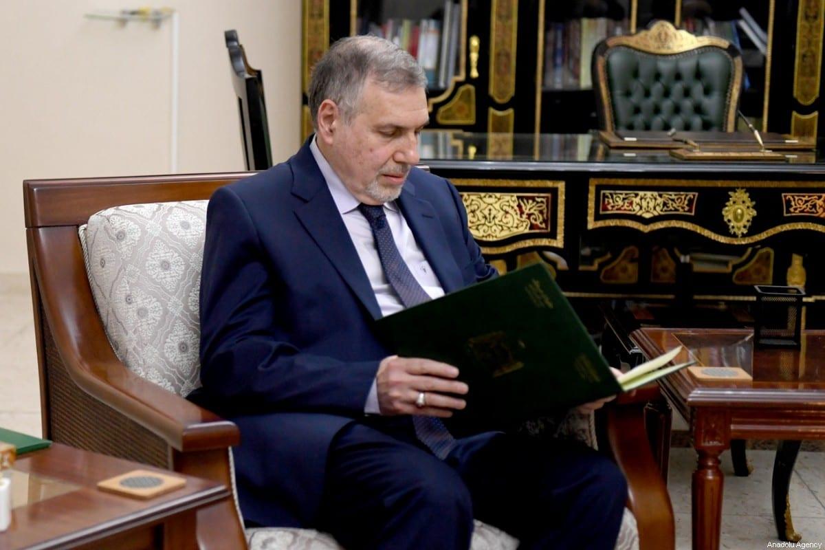 El ex ministro de comunicaciones de Iraq, Mohammed Tawfiq Allawi, es asignado por el presidente de Iraq, Barham Salih, para formar un nuevo gobierno, en Bagdad, Iraq, el 1 de febrero de 2020. [OFICINA DE PRENSA DE LA PRESIDENCIA IRAQUÍ / FOLLETO - Agencia Anadolu]