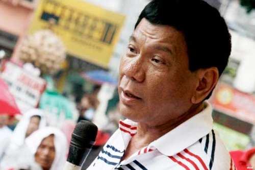 Presidente de Filipinas, Rodrigo Duterte.