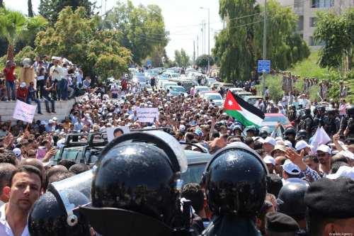 Profesores detenidos en Jordania tras una protesta antigubernamental