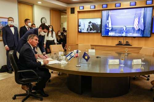 Israel y Kosovo establecerán vínculos en una reunión virtual