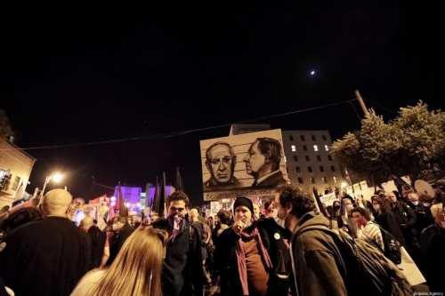 Miles de israelíes protestan contra Netanyahu antes de las elecciones
