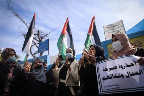 Los refugiados de Gaza protestan contra los recortes en la…