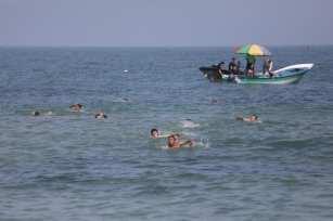 Formación de socorristas en Gaza el 3 de mayo de 2021 [Mohammed Asad/Middle East Monitor].