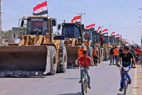 Israel permite la entrada de material de construcción en Gaza