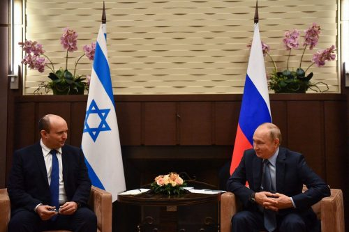 Putin se reúne por primera vez con el primer ministro…