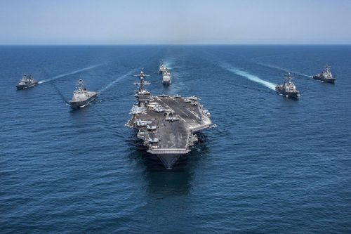 Arabia Saudí y Estados Unidos participan en un ejercicio naval…