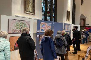 Festival de Palestina, el 9 de octubre de 2021 en Edimburgo, Escocia [proporcionado por Palestinian History Tapestry].