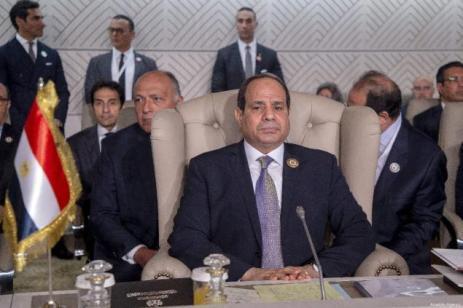 Presidente do Egito Abdel Fattah Al-Sisi participa da sessão de abertura do 30° Encontro da Liga Árabe, em Tunis, capital da Tunísia, 31 de março de 2019 [Yassine Gaidi/Agência Anadolu]