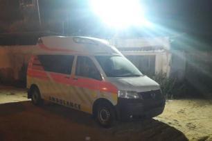 Comboio com ajuda médica enviada pela organização Miles of Smiles a chega a Gaza