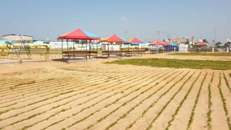 'Parque do Retorno', inaugurado por comitê de Gaza, ao lado da cerca israelense [Wafa Aludaini/Monitor do Oriente Médio]