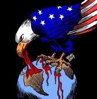 Estados Unidos sobre a Venezuela [Carlos Latuff/Monitor do Oriente Médio]