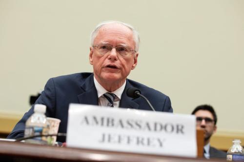 O Representante Especial dos EUA para a Síria James Jeffrey responde a perguntas no Comitê de Relações Exteriores da Câmara dos Representantes , em Washington, EUA, em 22 de maio de 2019 [Yasin Öztürk / Anadolu Agency]