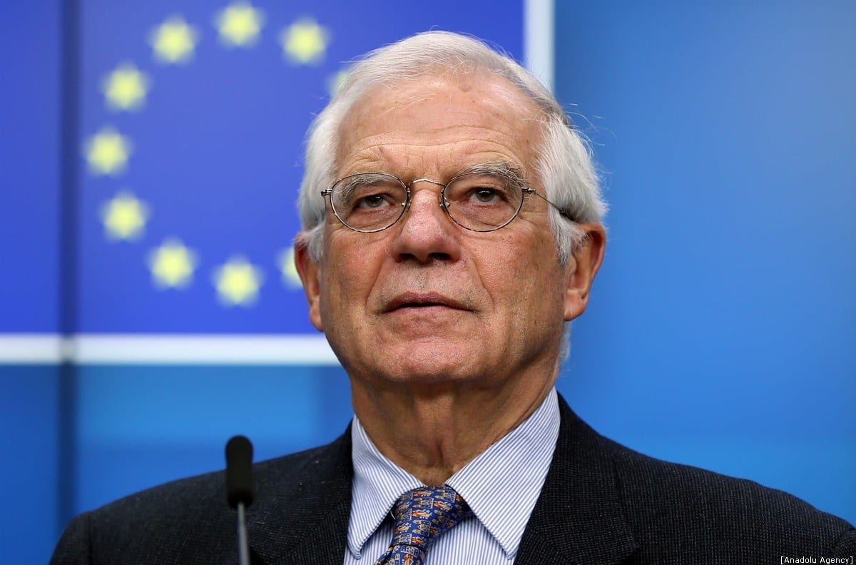 Alto Representante da UE para os Negócios Estrangeiros e a Política de Segurança, Josep Borrell Fontelles, em uma conferência de imprensa em Bruxelas , Bélgica, em 9 de dezembro de 2019 [Dursun Aydemir / Agência Anadolu]