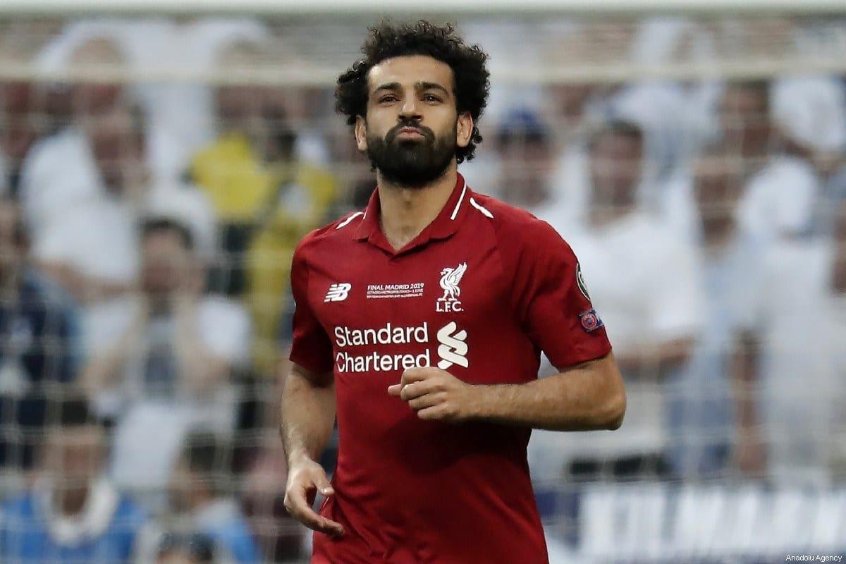 Mohamed Salah do Liverpool comemora gol durante a partida final da Liga de Campeões UEFA entre Tottenham e Liverpool no Wanda Metropolitano em Madri, Espanha, em 1 de junho de 2019. [Burak Akbulut/ Anadolu Agency]