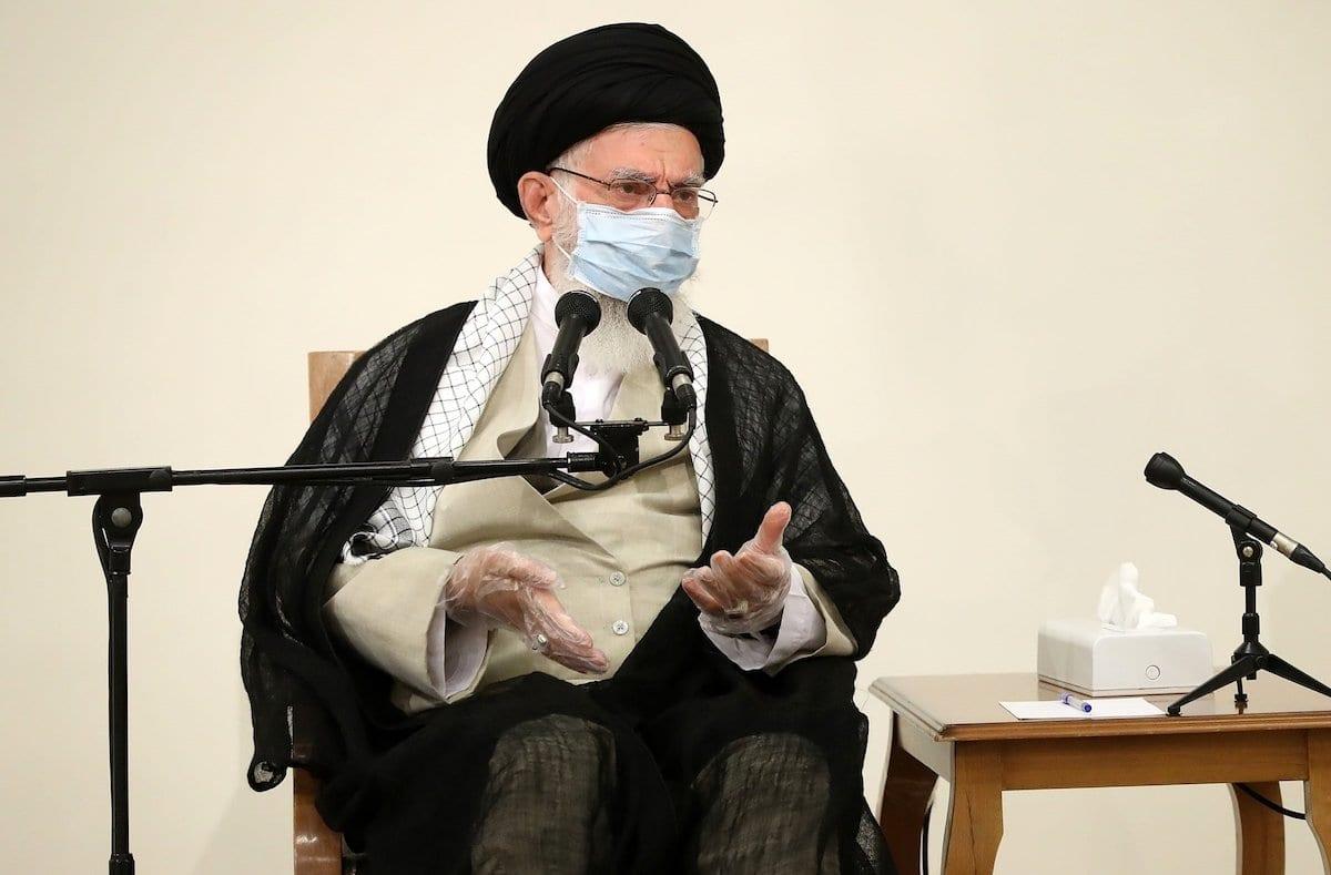 Líder supremo iraniano Ali Khamenei, em Teerã, Irã, em 21 de julho de 2020. [Governo do Irã/ Divulgação/ Agência Anadolu]