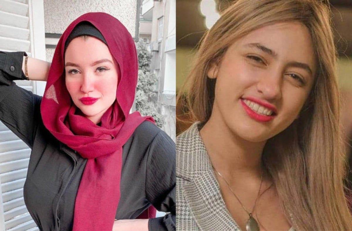 Mawada Al-Adham (dir.) e Haneen Hossam (esq) [Almogaz / Twitter]