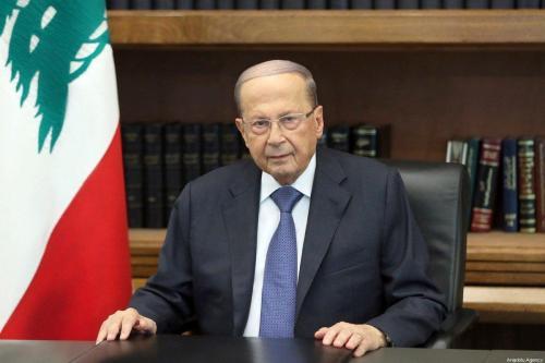 Presidente libanês Michel Aoun em Beirute, Líbano, em 24 de outubro de 2019 [Presidência do Líbano/ Agência Anadolu]