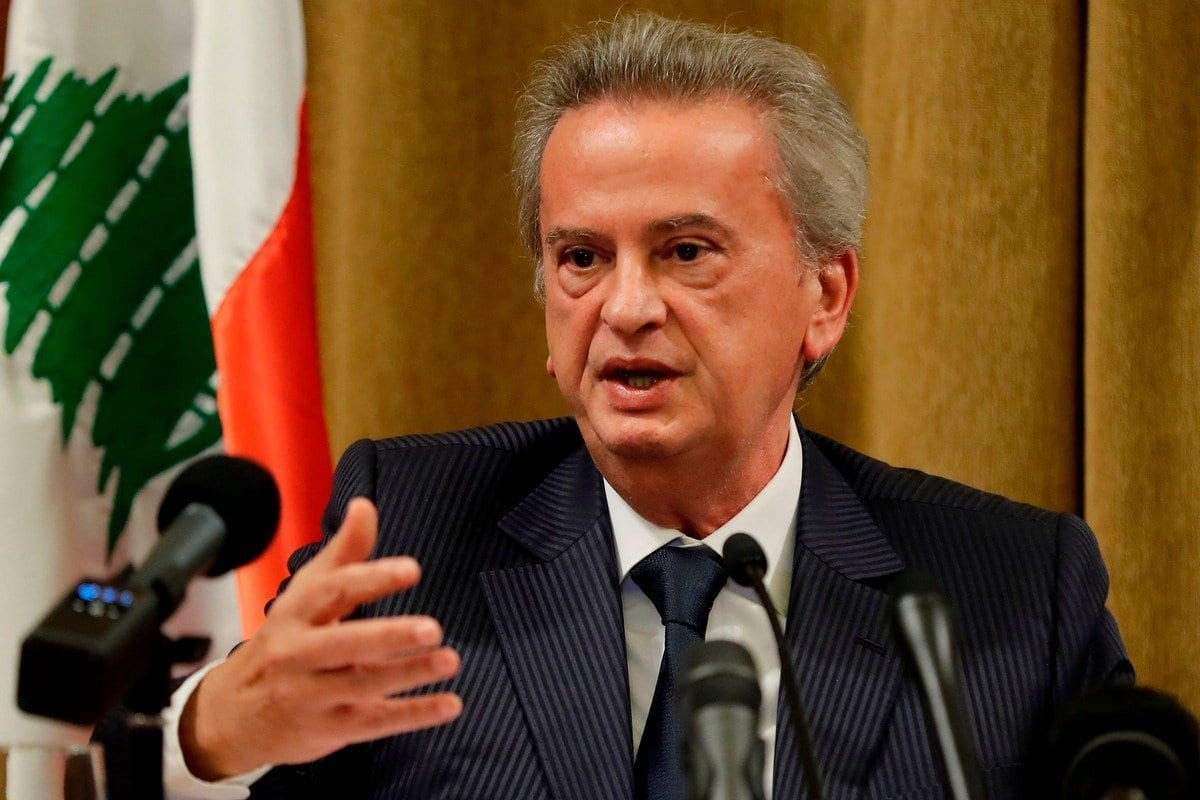 Riad Salameh, governador do Banco Central do Líbano, em Beirute, capital do país, 11 de novembro de 2019 [Joseph Eid/AFP/Getty Images]