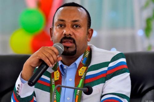 O primeiro-ministro da Etiópia, Abiy Ahmed, em Addis Ababa, na Etiópia, em 15 de setembro de 2019 [Michael Twelde/ AFP/ Getty Images]