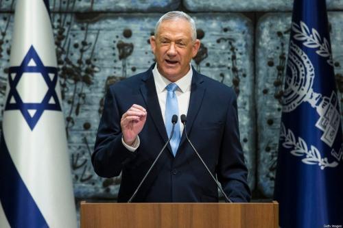 Benny Gantz, líder do partido Azul e Branco (Kahol Lavan), em Jerusalém, 23 de outubro de 2019 [Amir Levy/Getty Images]