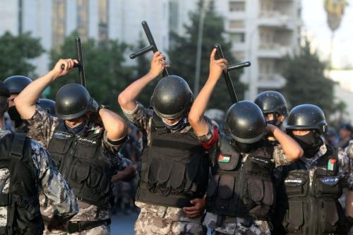 Polícia jordaniana em Amã, Jordânia em 29 de julho de 2020 [Jordan PIx / Getty Images]