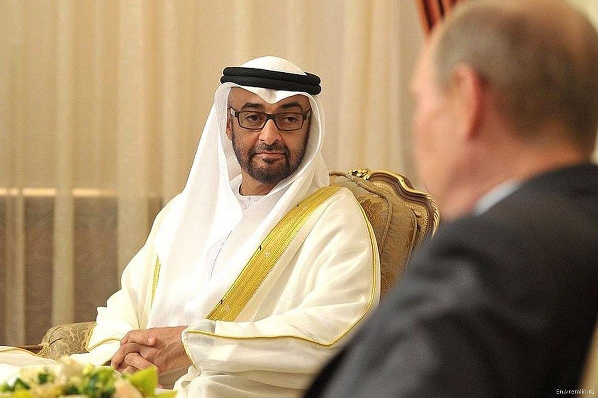 Mohammed Bin Zayed Bin Sultan Al-Nahyan, o príncipe herdeiro de Abu-Dhabi [En.kremlin.ru]