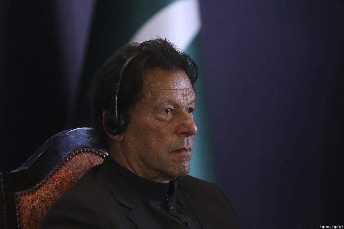 Primeiro-ministro de Imran Khan em Islamabad, Paquistão em 14 de fevereiro de 2020 [Erçin Top/ Agência Anadolu]