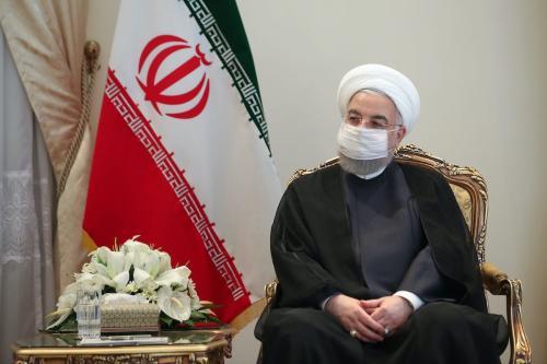 Presidente do Irã Hassan Rouhani na capital iraniana Teerã, em 7 de setembro de 2020 [Presidência do Irã/Agência Anadolu]