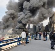 Explosão atinge depósito de armas do Hezbollah, no sul do Líbano