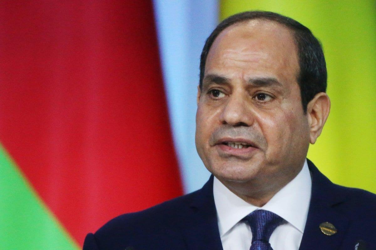O presidente egípcio, Abdel Fattal Al-Sisi, em Sochi, Rússia, em 24 de outubro de 2019 [Mikhail Svetlov / Getty Images].