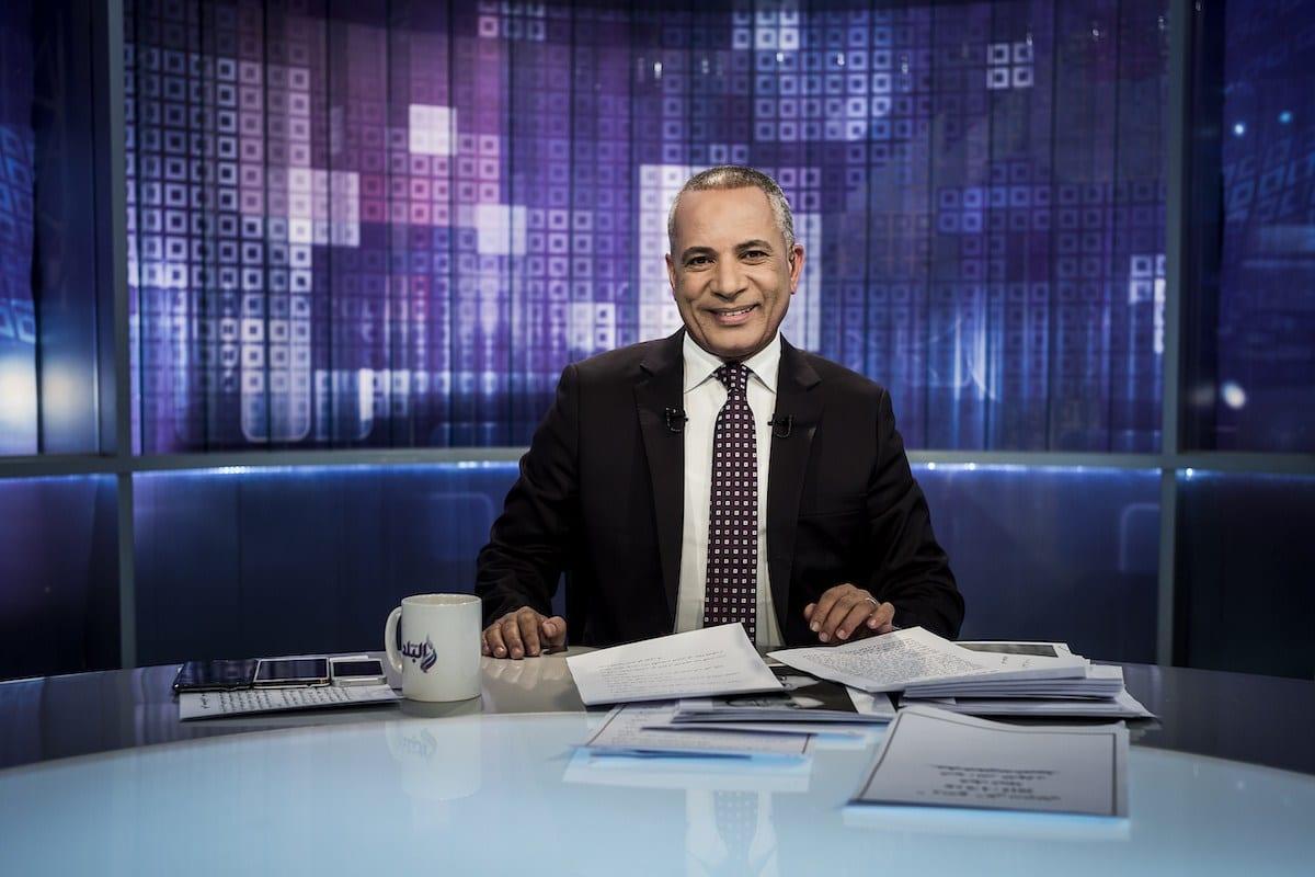 Ahmed Moussa, apresentador de um programa de entrevistas no canal Sada El Balad, no Cairo, Egito [Degner/Getty Images]